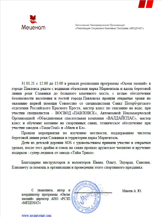 Океан эмоций в городе Павловск  31.01.2021